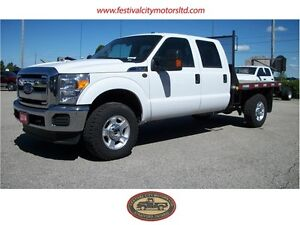 2014 Ford F-350 Crew Cab 4x4 | 8' Flatbed | LOW Ks!