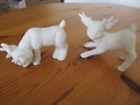 Pottery craft, reindeer ready to paint.