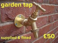 Outside Garden tap supplied & fitted £50