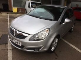 VAUXHALL CORSA 1.4 SXI HATCHBACK 3 DOOR 2007 57 SILVER METALLIC, MOT FEBRUARY 2019