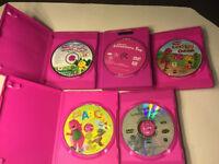 Lot of 5 Barney DVD's