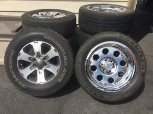 "2 sets tires/rims 18"" and 20"""