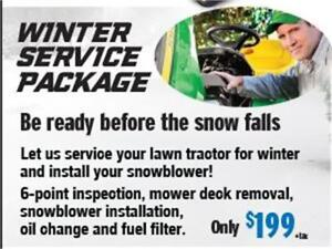 WINTER SERVICE PACKAGE FOR LAWN TRACTORS