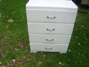 4 drawer white compact dresser