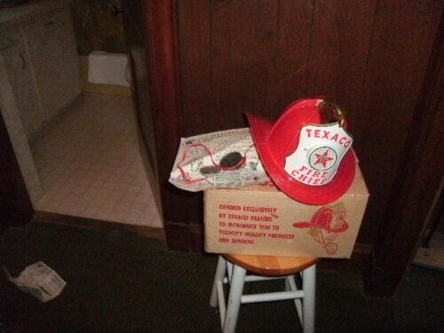 Vintage, Texaco Oil Company, Fire Chief Helmet, Kids, Original Box with new part
