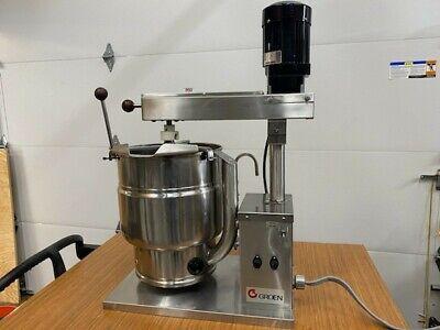 Groen Mixing Tilting Jacketed Steam 20 Quart Fudge Kettle Cooker Mixer Tdb7-20