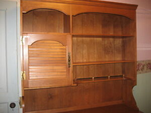 REDUCED TODAY! VINTAGE ROXTON MAPLE HUTCH TOP, MINT COND