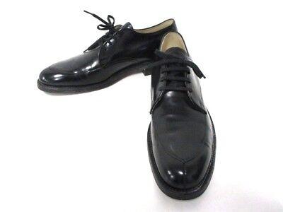 Auth Alden Black Leather Men