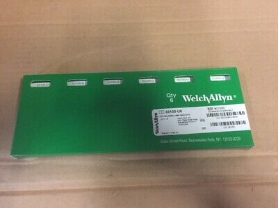 Welch Allyn 3.5v Halogen Lamp 6-pack Part 03100-u6 New
