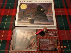 The Polar Express Gift Set:  Hardcover Book, CD (sealed) & Bell!