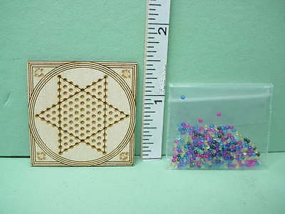 Dollhouse Miniature Chinese Checkers Game - Handcrafted 1/12 The Dragon's Mate