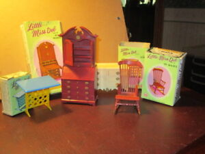 4 -Vintage Little Miss Deb Dollhouse Furniture Pieces