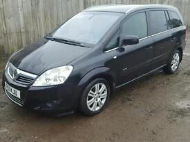 Vauxhall zafira 1.7 diesel, manual, FULL LEATHER SEATS, 7 seats, 2011 reg, 79760 miles, Hpi clear