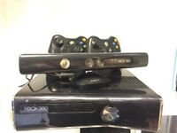 Xbox 360S (Slim) Console - 250GB - Kinect - 2 Controllers