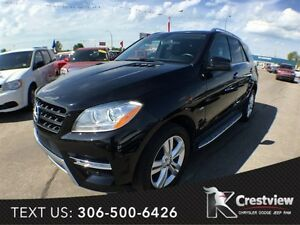 2012 Mercedes-Benz M-Class 4MATIC ML350 w/ Leather, Sunroof, Nav