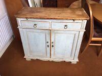 Blue French antique dresser