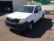 2013 Toyota Hilux TGN16R MY12 Workmate White 4 Speed Automatic Dual Cab Pick-up Berrimah Darwin City Preview