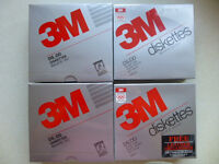 3M Double sided, double density, 5 1/4 inch floppy disks for PC. Four sealed boxes of 10 disks