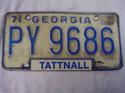 1971  GEORGIA  LICENSE PLATE    PY 9686
