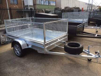 8X5 Box Trailer Caged Gavanised Rego  NOT CHINESE IMPORT CRAP !