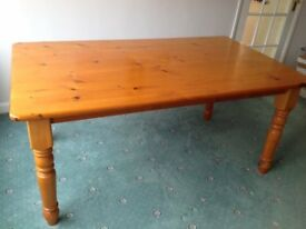 Large very sturdy dining table 66 ins x 39 ins
