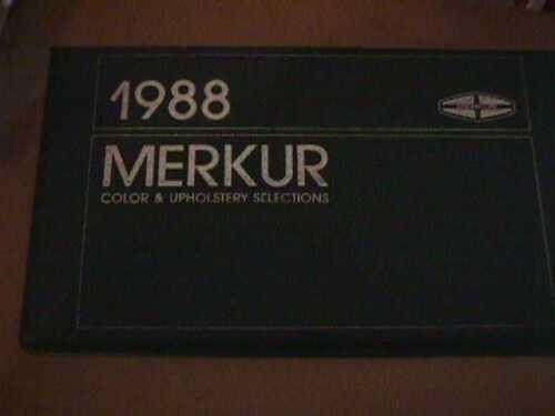 SCARCE 1988 MERKUR DEALER COLOR AND UPHOLSTERY SHOWROOM ALBUM