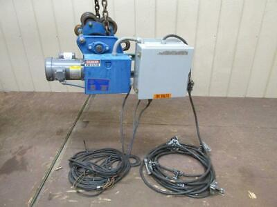 David Round Electric Chain Cable Hoist Power Trolley 1 Ph 115230v Single Phase