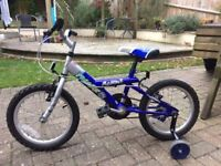 16 inch wheel childs Bicycle with stabilisers in good condition.