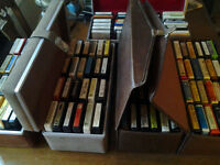100 8 TRACKS CASSETTES AND CASSETTE PORTABLE READER( REDUCED  )