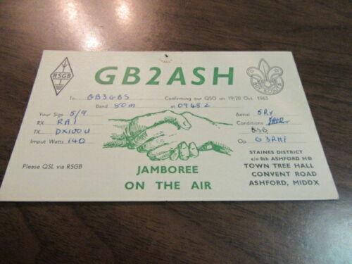 Jamboree on the Air British Postcard 1963       c85
