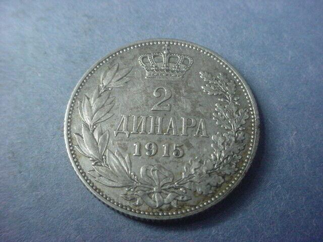 Yugoslavia Serbia 2 Dinara 1915 #37629