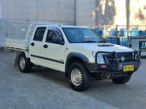 2007 Holden Rodeo RA MY07 LX Crew Cab White 5 Speed Manual Cab Chassis Mayfield East Newcastle Area Preview