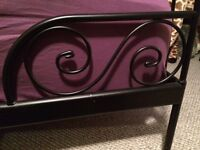 Wrought Iron Bed Frame and Mattress