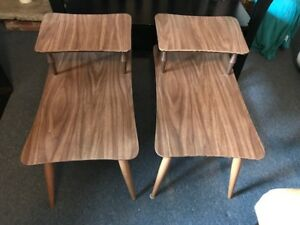 Side Tables Boho Vintage Midcentury
