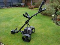 Hillbilly Terrain electric golf trolley with battery and charger
