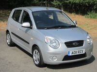KIA PICANTO 1.0L SPICE 5DR (A/C) SILVER 2011 (11) ONLY 18K FSH / SERVICED + MOTD