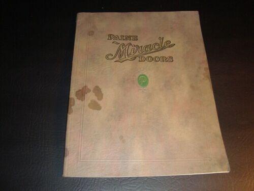 Circa 1920s Pine Miracle Door Color Catalog, Oshkosh, Wisconsin