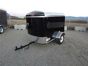 NEW 4x6 ROUND TOP ENCLOSED CARGO TRAILER
