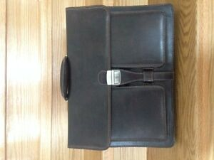 Professional Business Briefcase - Dark Brown, Leather - $25 (Gue
