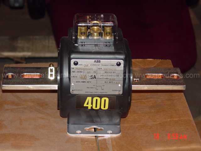 ABB  TYPE- CMF  CURRENT TRANSFORMER RATIO 400:5A BIL;10KV 60HZ NSV 0.6KV NEW