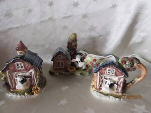 Kitschy Ceramic Cow Salt & Pepper, Sugar bowl and Milk jug Shortland Newcastle Area Preview