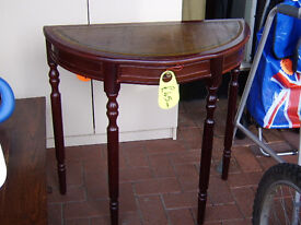 Half moon hall table