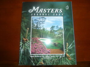 2003 Masters Golf Tournament Journal autographed by Mike Weir Oakville / Halton Region Toronto (GTA) image 1
