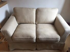 Two Seater Beige Sofa