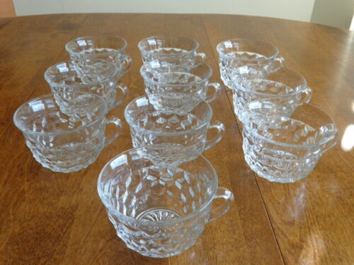 FOSTORIA AMERICAN CLEAR PUNCH CUPS LOT OF 10