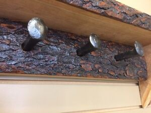 LIVE EDGE COAT RACK!!!