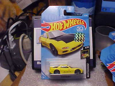 Hot Wheels Stickers (Hot Wheels Nightburnerz '95 Mazda RX-7 Yellow with 2018 Factory Seal)