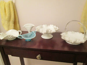 FENTON GLASS BASKET & CANDY DISH**PLUS MORE**SEE ALL PICTURES London Ontario image 3