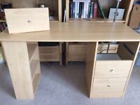 FREE Light wood desk H72 x W120 x D49 (cm)