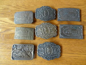 Vintage Brass Belt Buckles- 1970's Bergamot Brass Works 4/$50